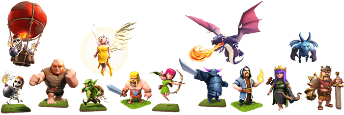 clash of clans troops showcase