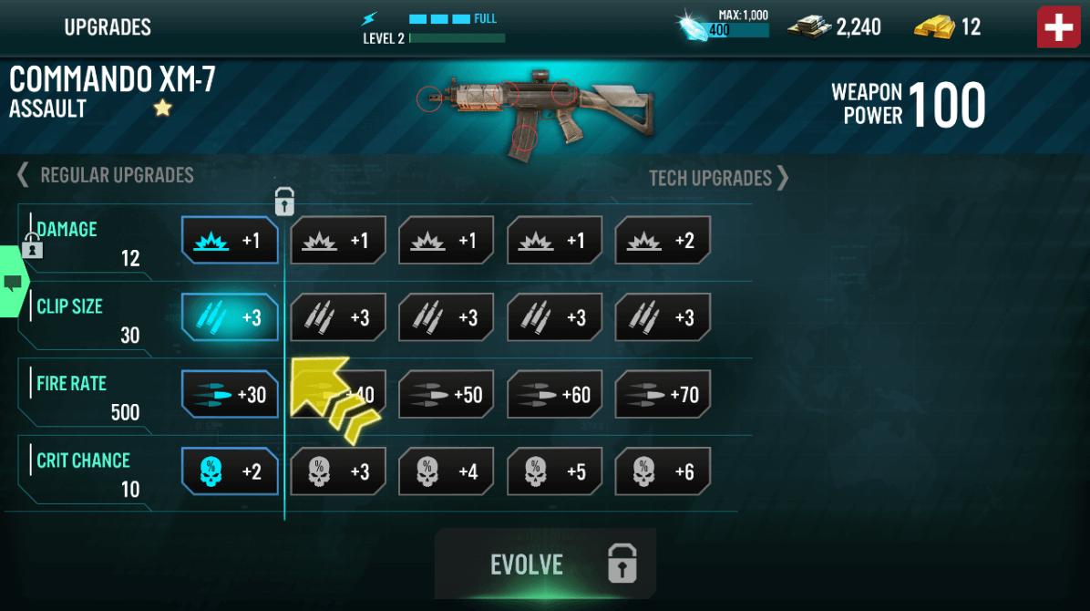contract killer assault commando gun upgrades