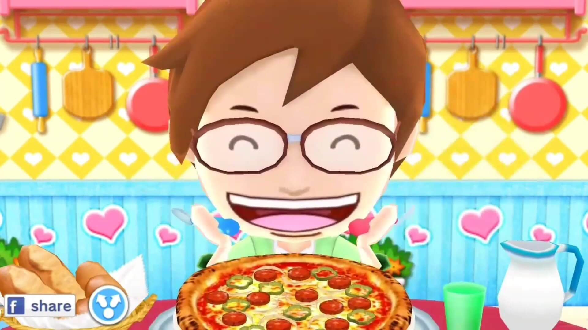 Cooking Mama Serving Customers