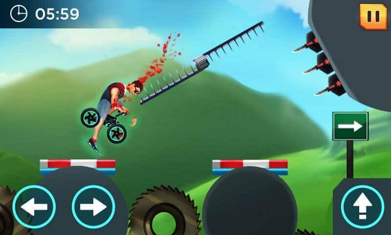 crazywheels man obstacle challenge