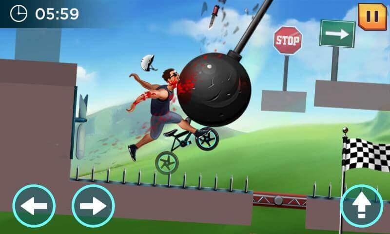 crazywheels man hit by a wrecking ball
