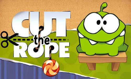 cut the rope omnom sitting on a chair