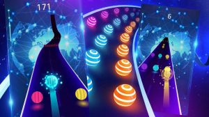 dancing road color ball colorful