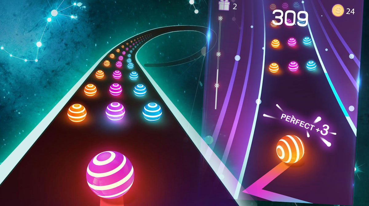 dancing road color ball perfect score