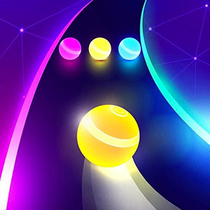 Play Dancing Road: Color Ball Run! on PC