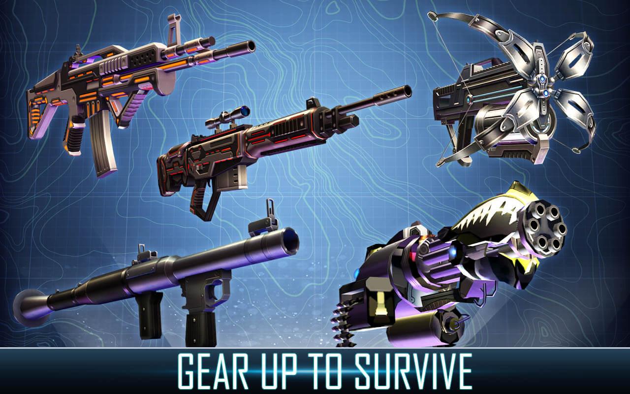 Dino Hunter variety of guns that can capture a dinosaur