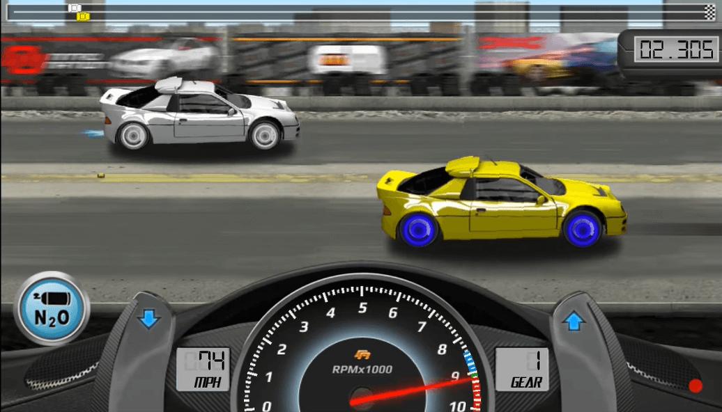 drag racing cars finish