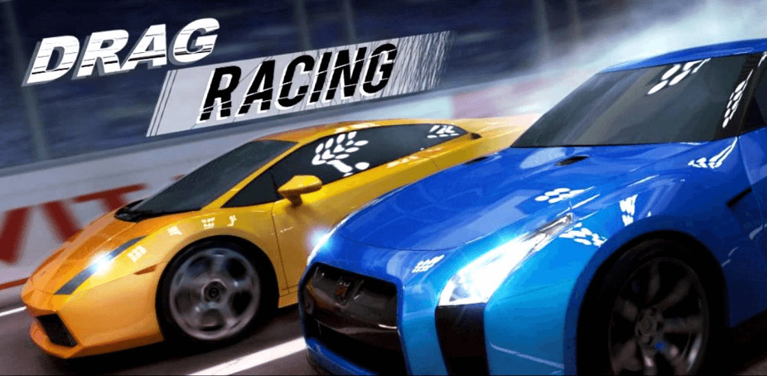 drag racing blue and yellow