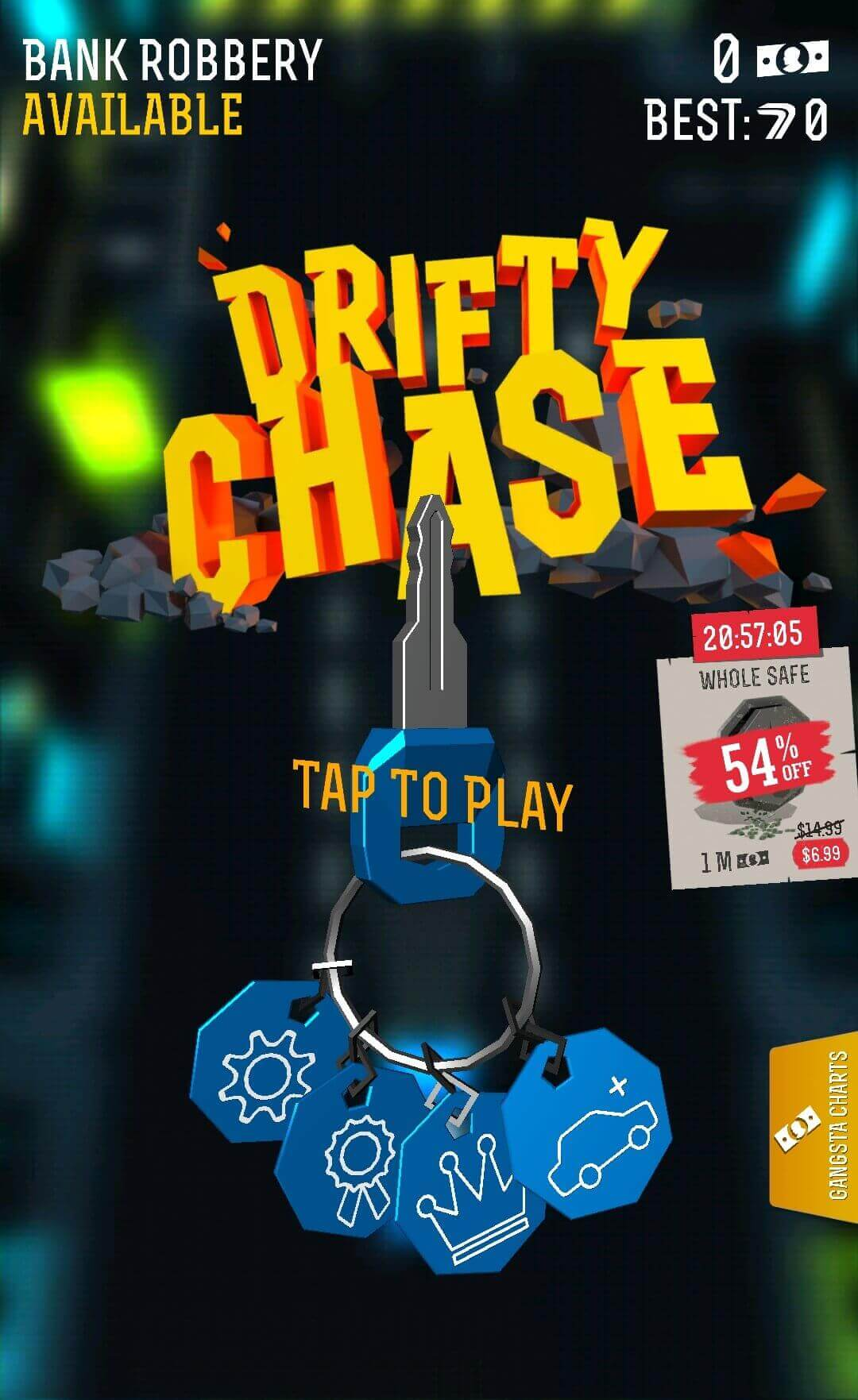 Drifty Chase car key to start
