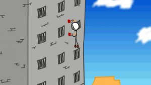 escaping the prison wall climbing