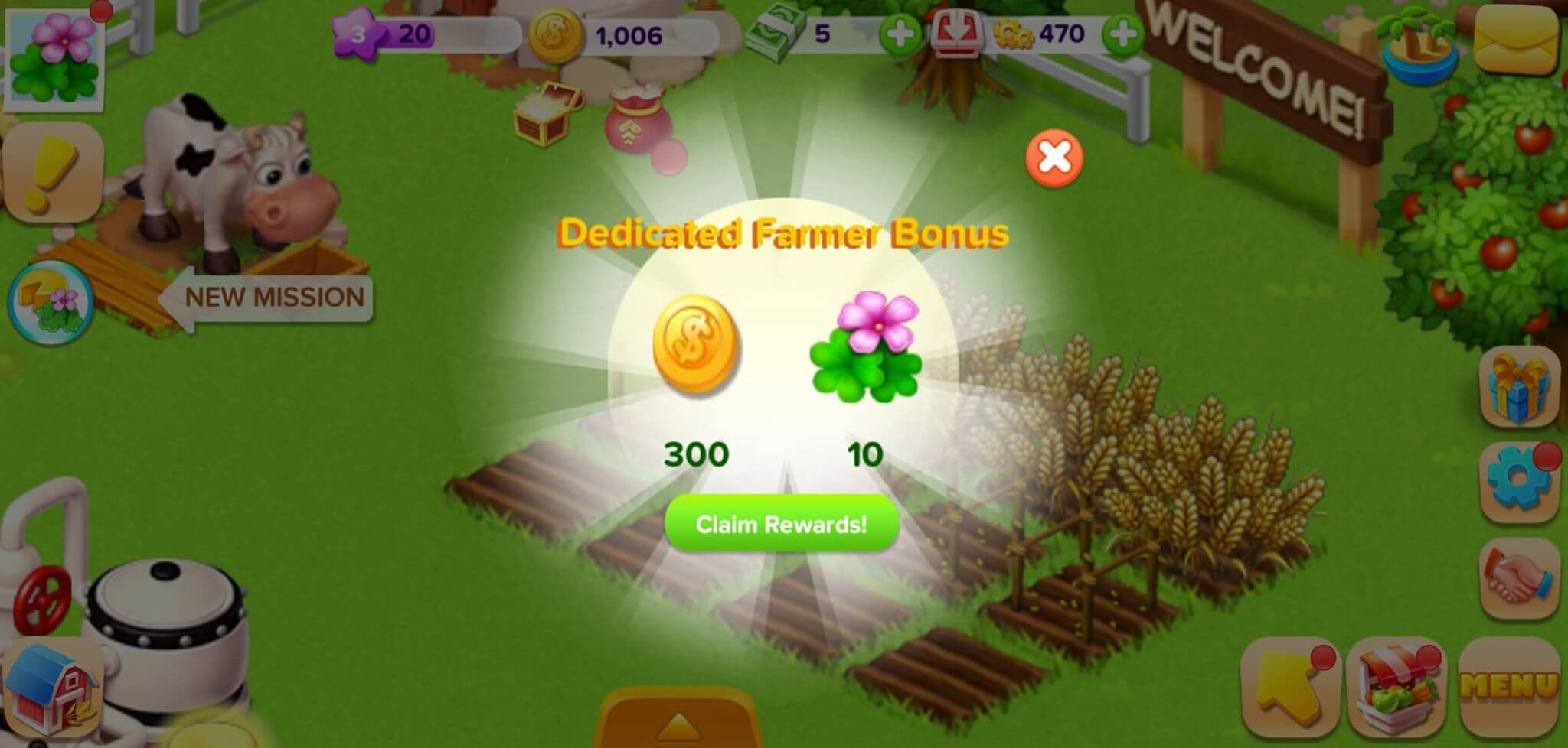 family farm earn coins