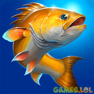 Fishing Hook Shiny Gold Carp Under Sea