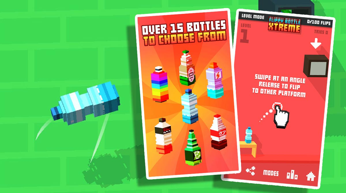 flippy bottle extreme designs