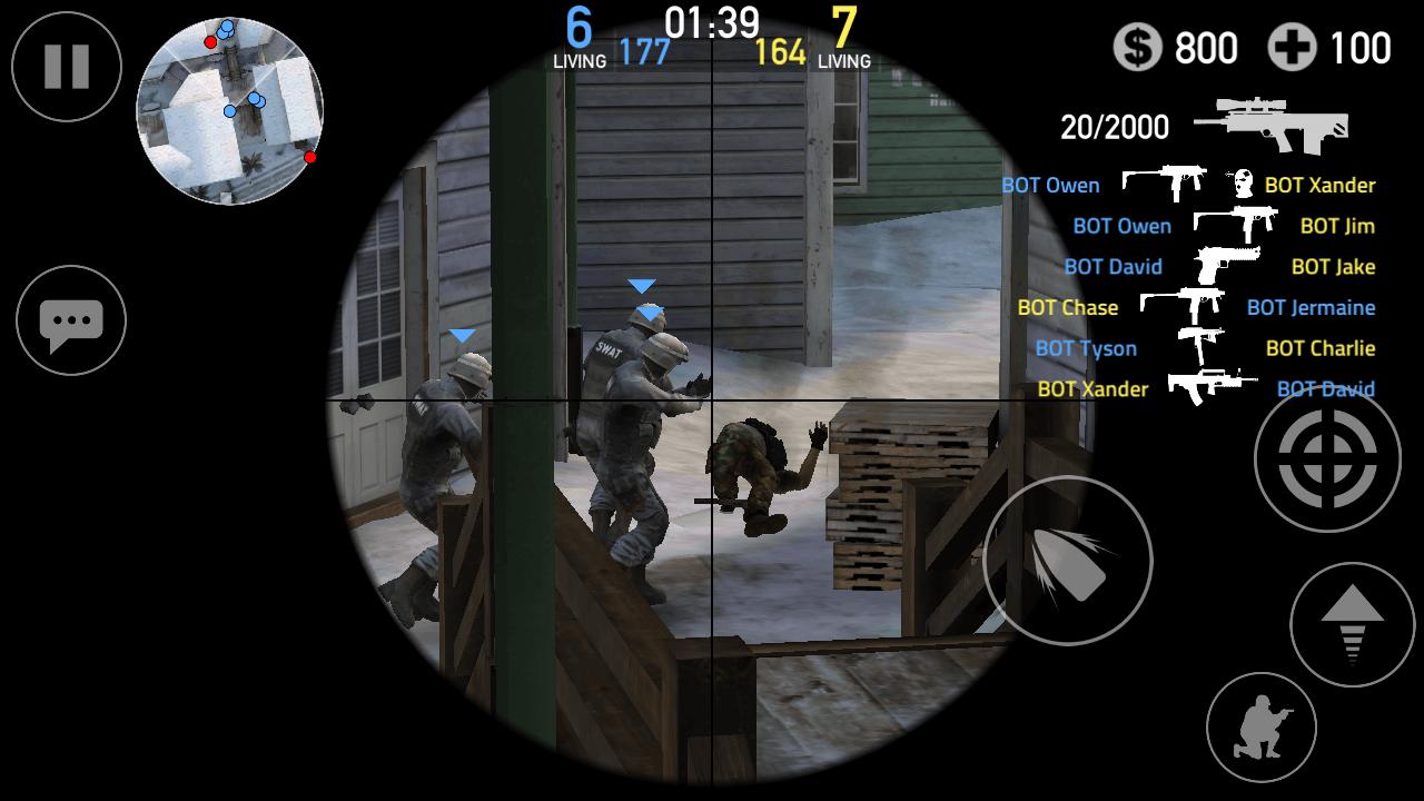 forward assault enemies on scope
