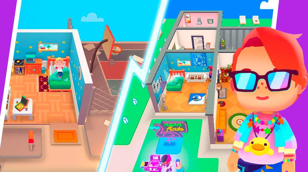 idle life sim house design