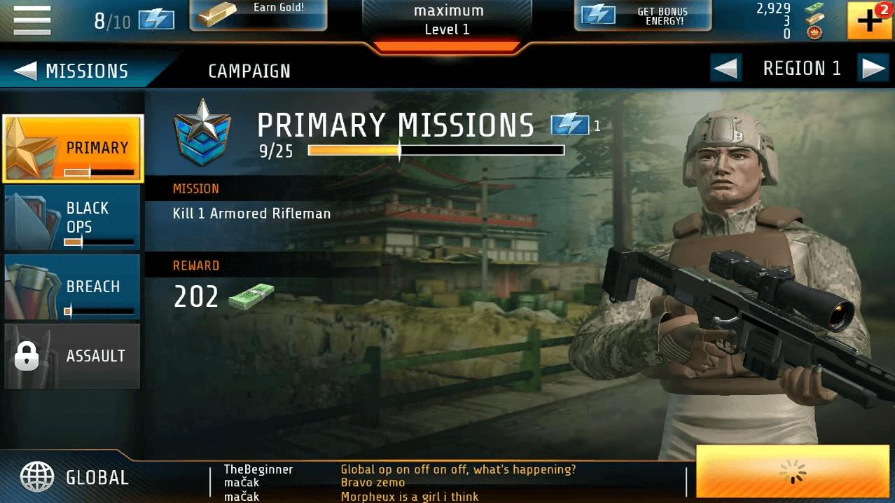 Kill Shot Bravo Region 1