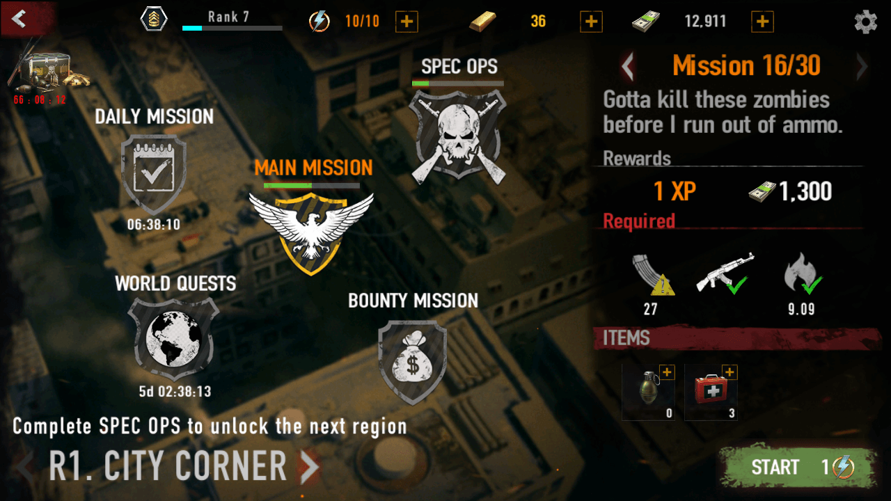 Mad Zombies Mission 16/30