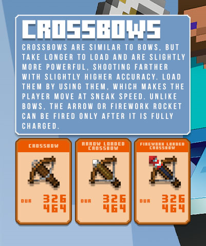 minecraft crossbows infographic