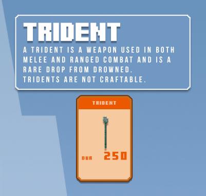 minecraft trident infographic