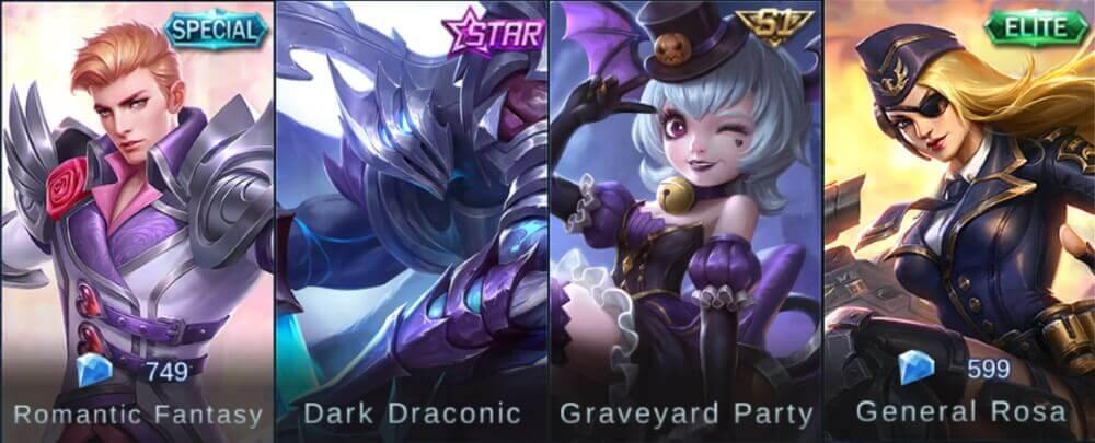 Mobile Legends Seasonal Skins