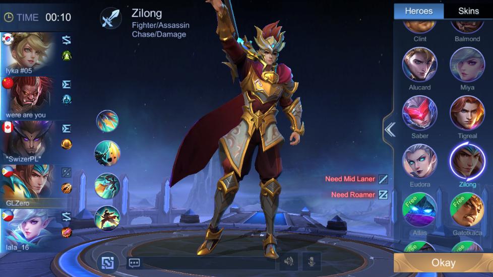 mobile legends zilong hero