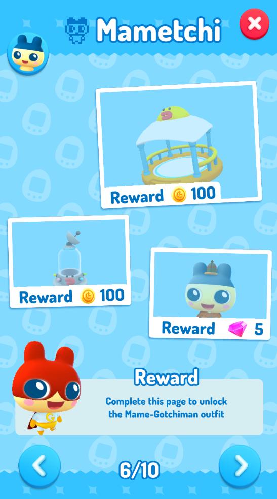 My Tamagotchi Forever Task Screen
