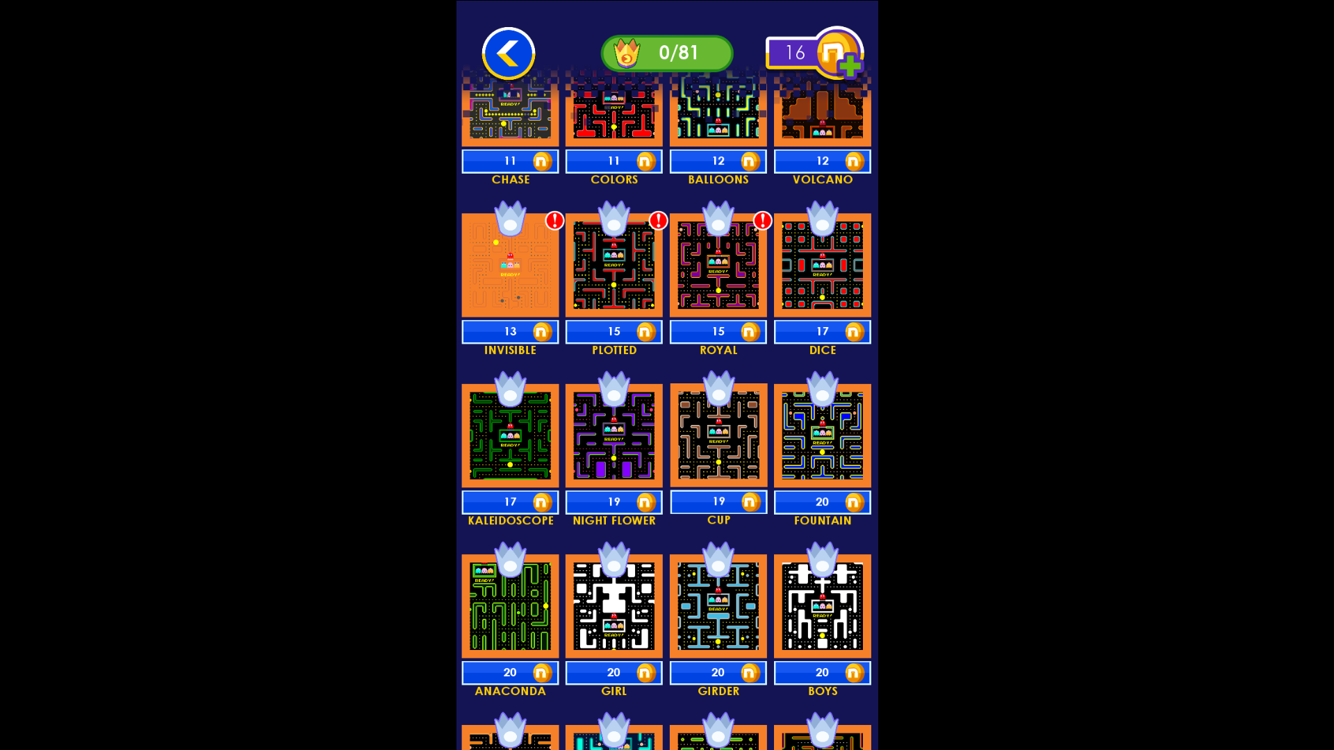 PAC-MAN Unlock Mazes