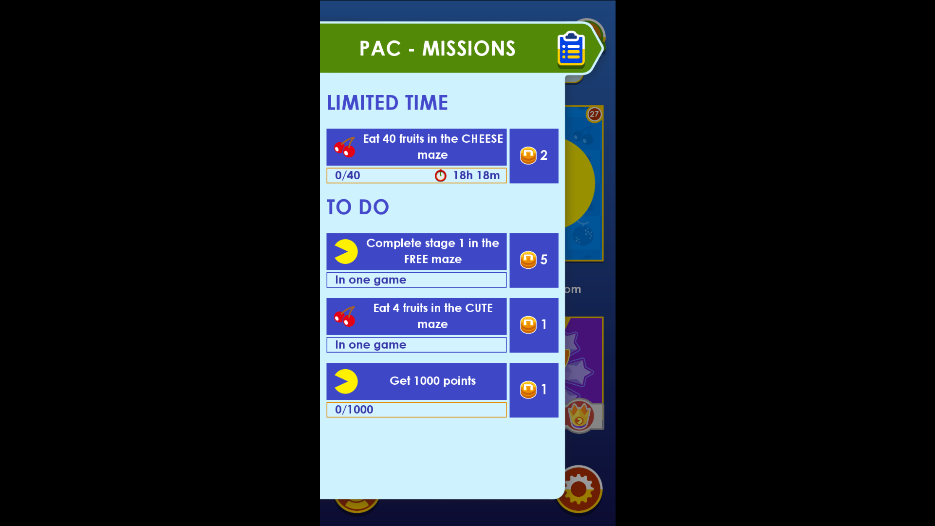 PAC-MAN Missions