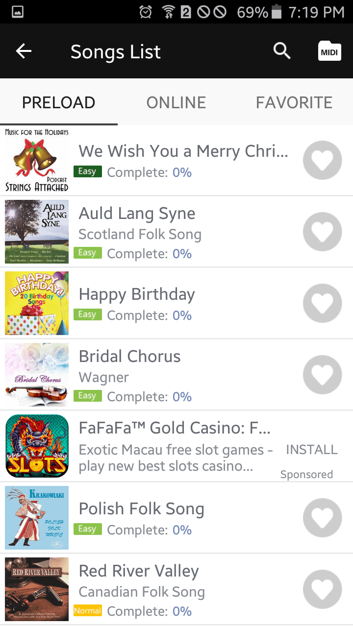 Easy Piano Songs List
