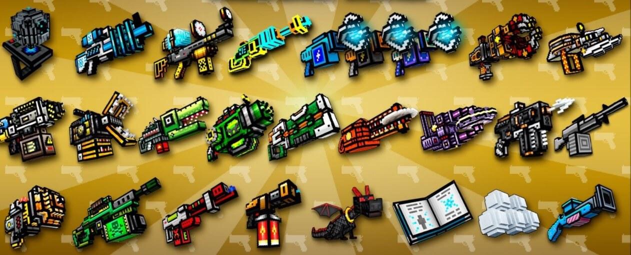 Pixel Gun 3D Game Download PC guns weapons