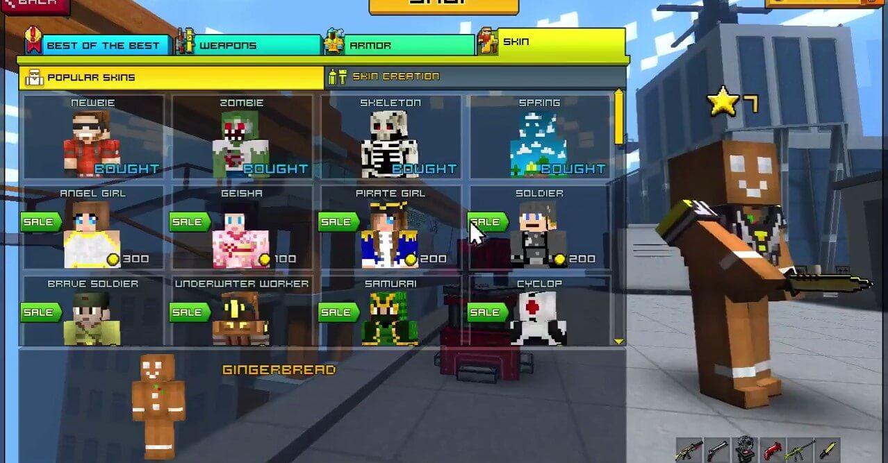 Pixel Gun 3D Game Download Tips Skins