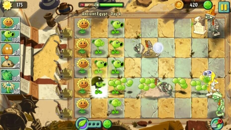 Plants vs Zombies 2 Tower Defense
