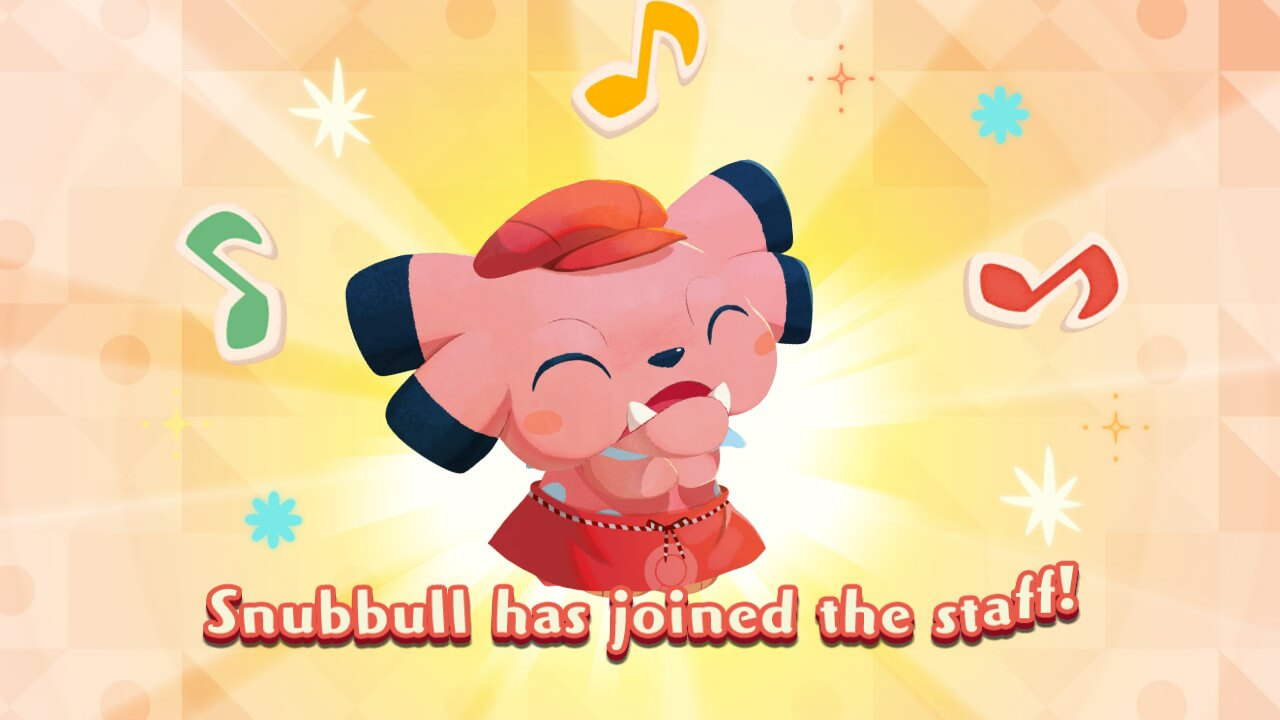 Pokemon Cafe Mix Snubbull Joining the Staff
