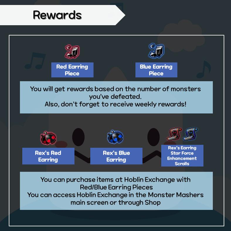 monster mashers rewards