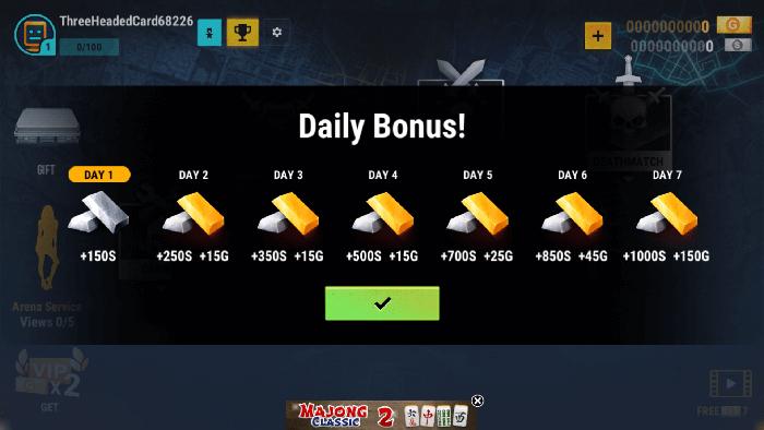 robot fighting 2 daily rewards