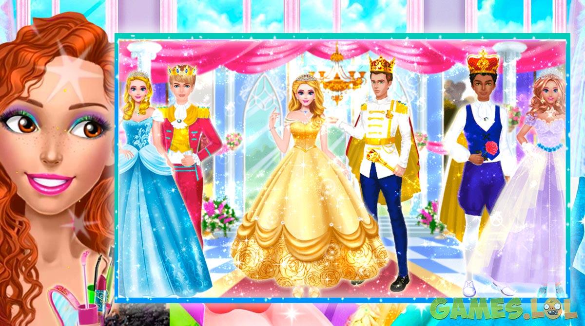 royal girls princess salon ball
