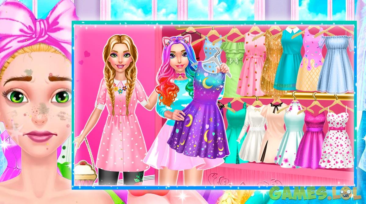 royal girls princess salon with friend