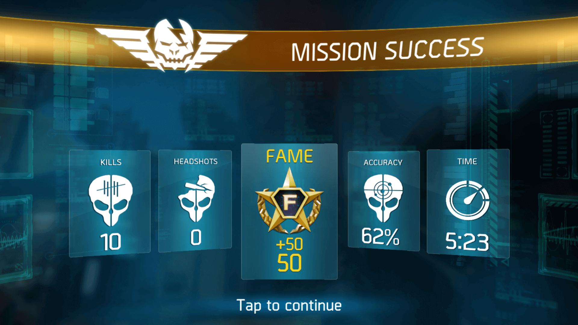 shadowgun legends mission success
