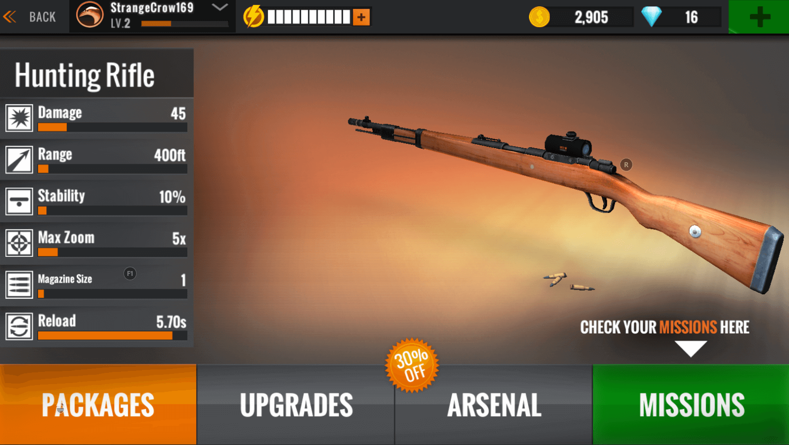 sniper 3d gun shooter hunting rifle upgrades