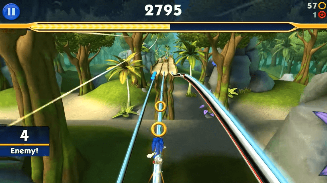 Sonic Dash 2 Gameplay in the Jungle