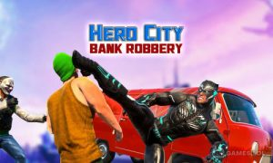 Play Hero City Bank Robbery Crime City Rescue Mission on PC