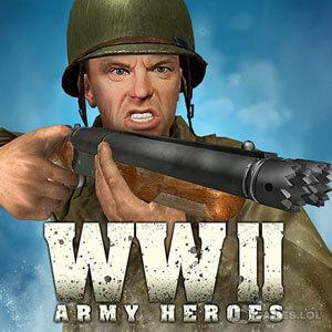 Play World War 2 Frontline Heroes: WW2 Commando Shooter on PC