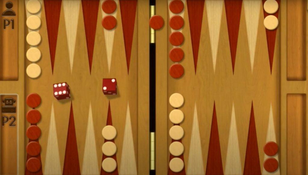 Backgammon free board game