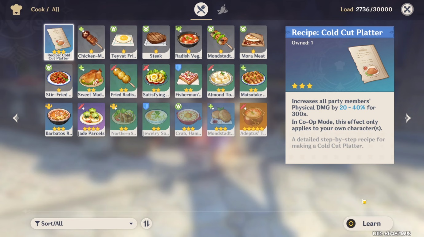 Genshin Impact Recipes