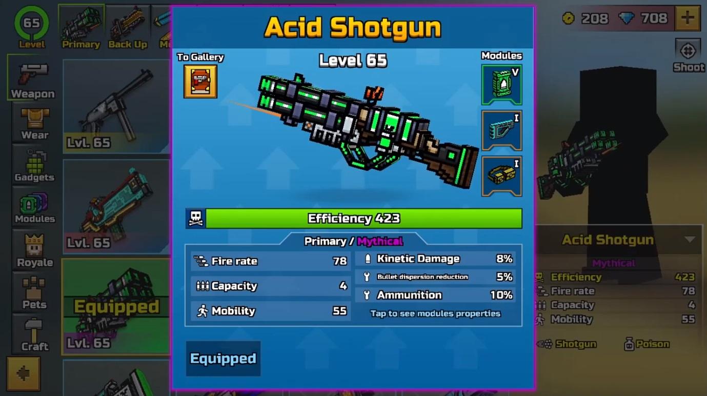 Pixel Gun 3D Acid Shotgun