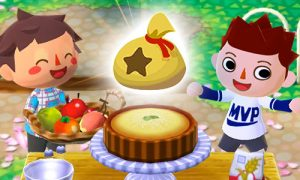 animal crossing sharing fruits and pies