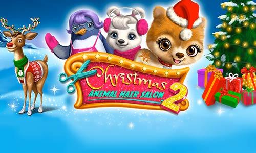 Play Christmas Animal Hair Salon 2 on PC