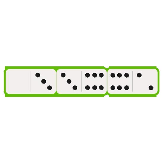 dominoes three row