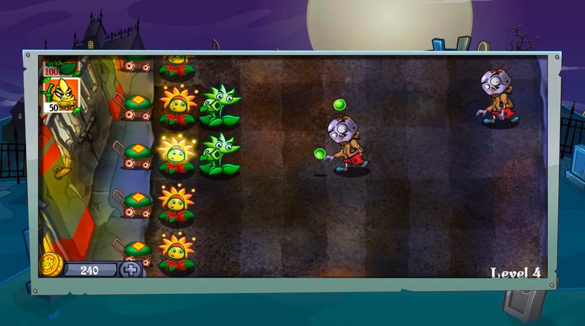 flower zombie war download free