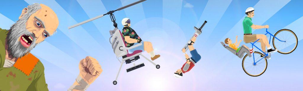happy wheels aerial stunts and maneuvers